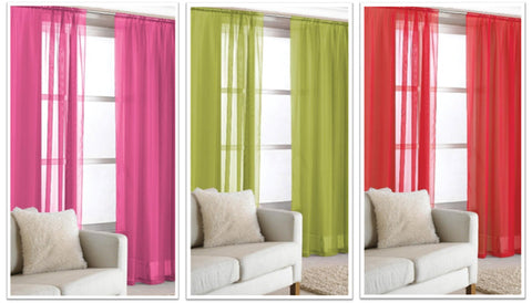 Virtues of voiles - pink, green and red voiles
