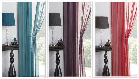 Virtues of voiles - teal, purple and red voiles