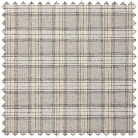 Beige and faint blue checked fabric
