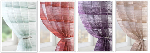 Virtues of voiles - blue, red and purple voiles