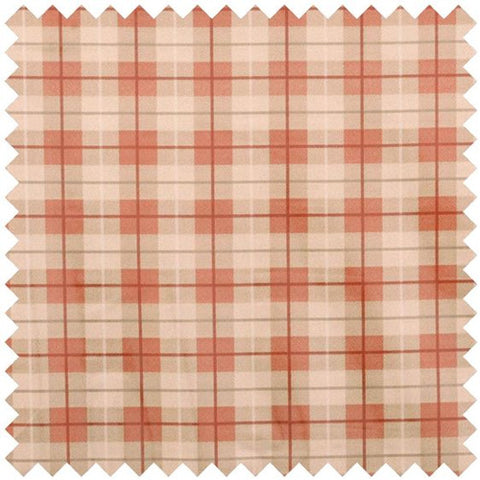 Tartan PVC Fabric - Red