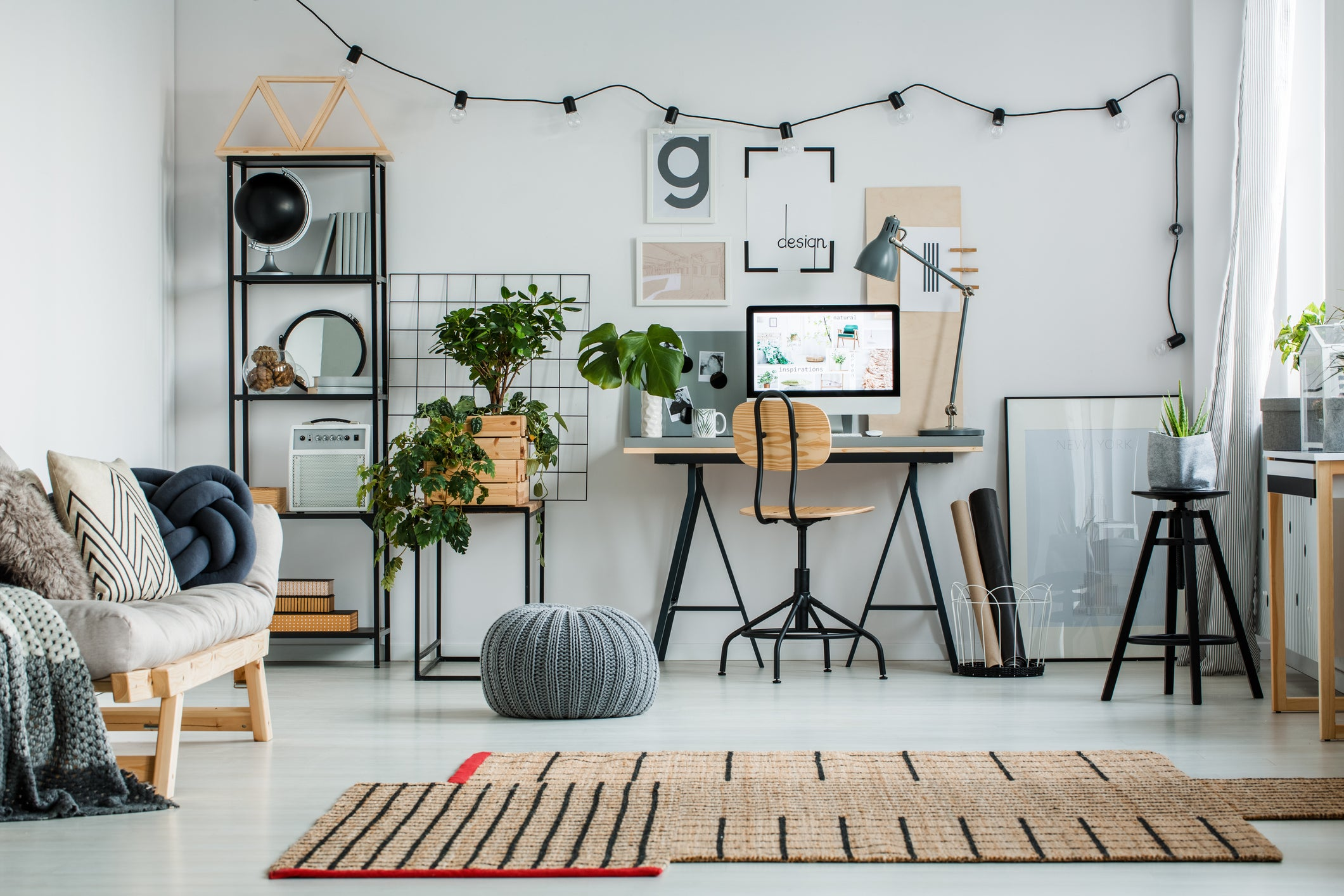 Hgtv While Modern Workplaces Are Often Little Functional In Design At Home Youre Free To Put Your Own Stamp On Things Set Up Workstation Wooden Desk Terrys Fabrics Home Office Ideas Design Decor Guide