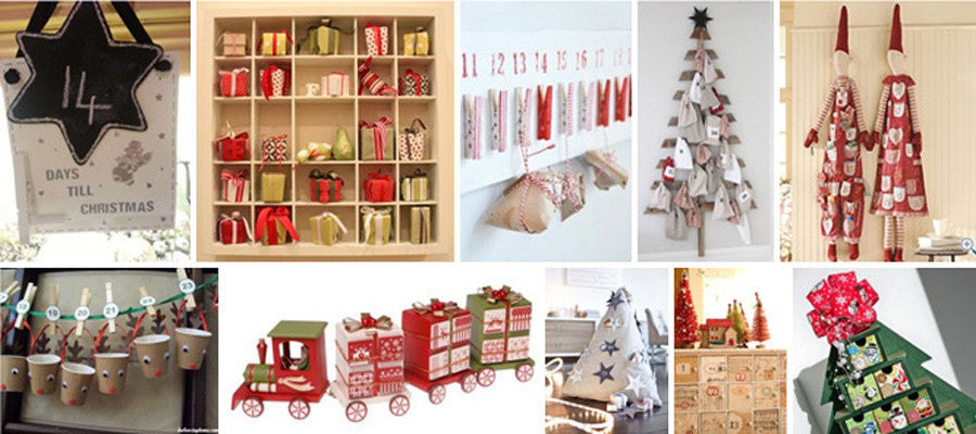 A Selection Of Different DIY Advent Calendars