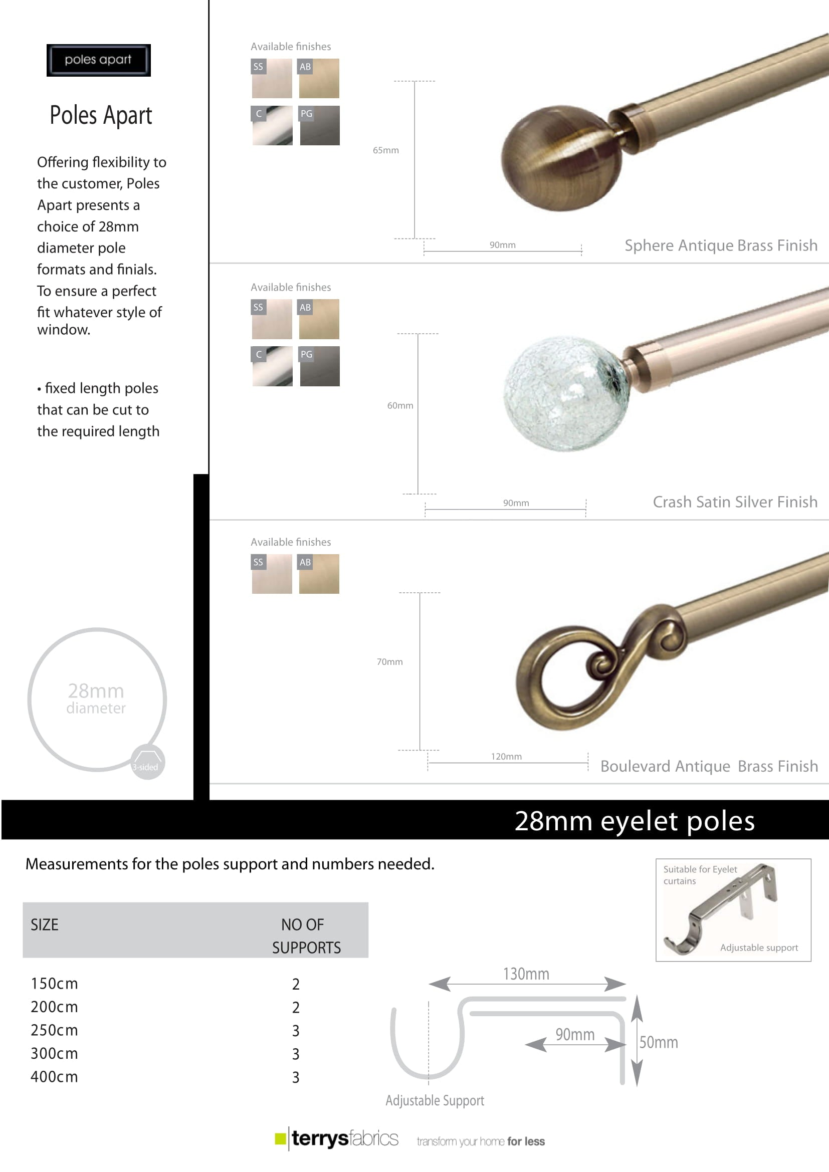 Ball Crash Boulevard Eyelet Pole Product Details And Fitting Instructions One