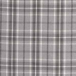 Grey and white checked fabric