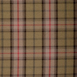 Checked fabric in dark brown and red