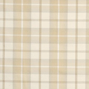 Cream and beige checked fabric