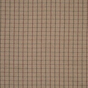 Fabric swatch that's dark brown with darker brown grid pattern