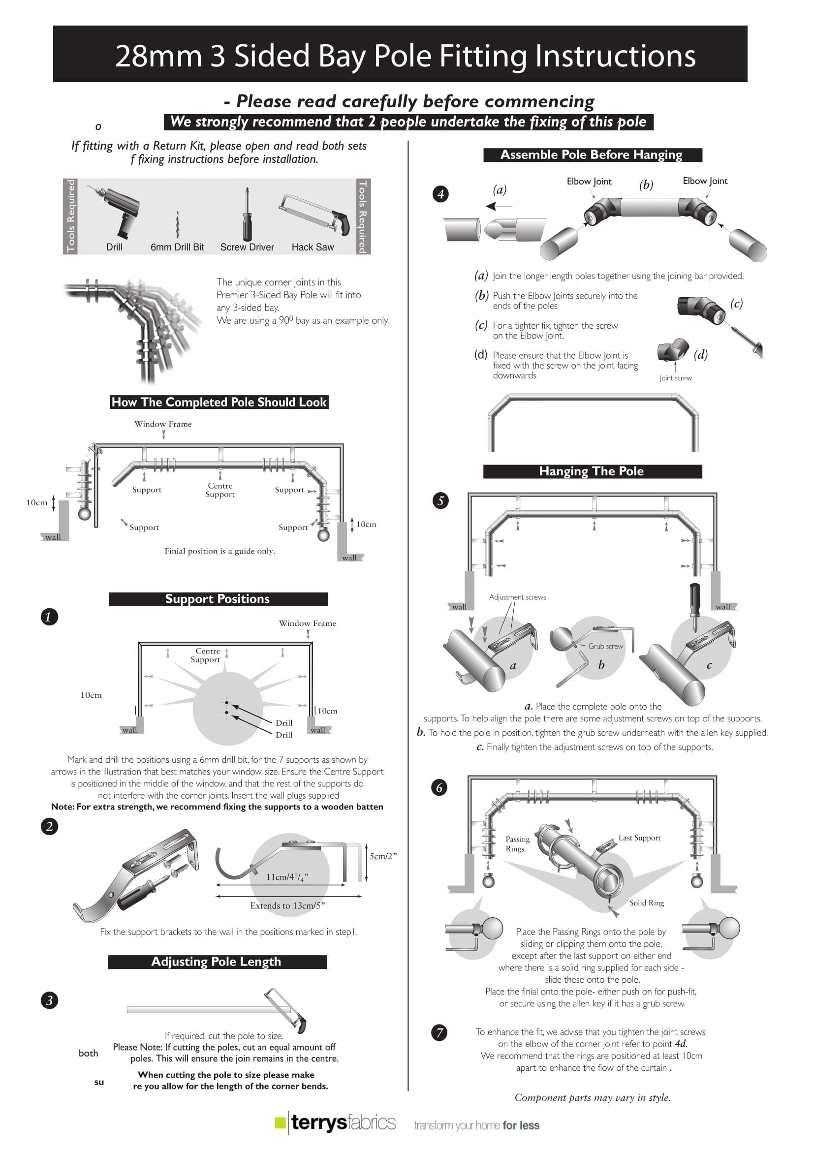 Bay Pole Fitting Instructions Five