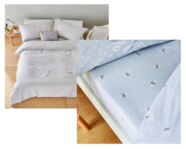 Bee Happy Bedding and Fitted Sheet