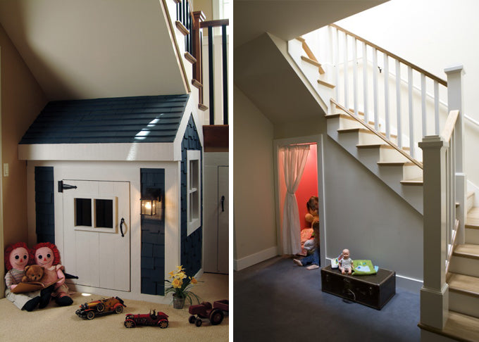 A Wendy house under a staircase