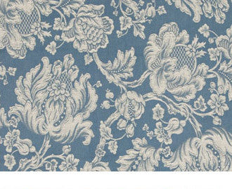 Blue and cream swirling floral design