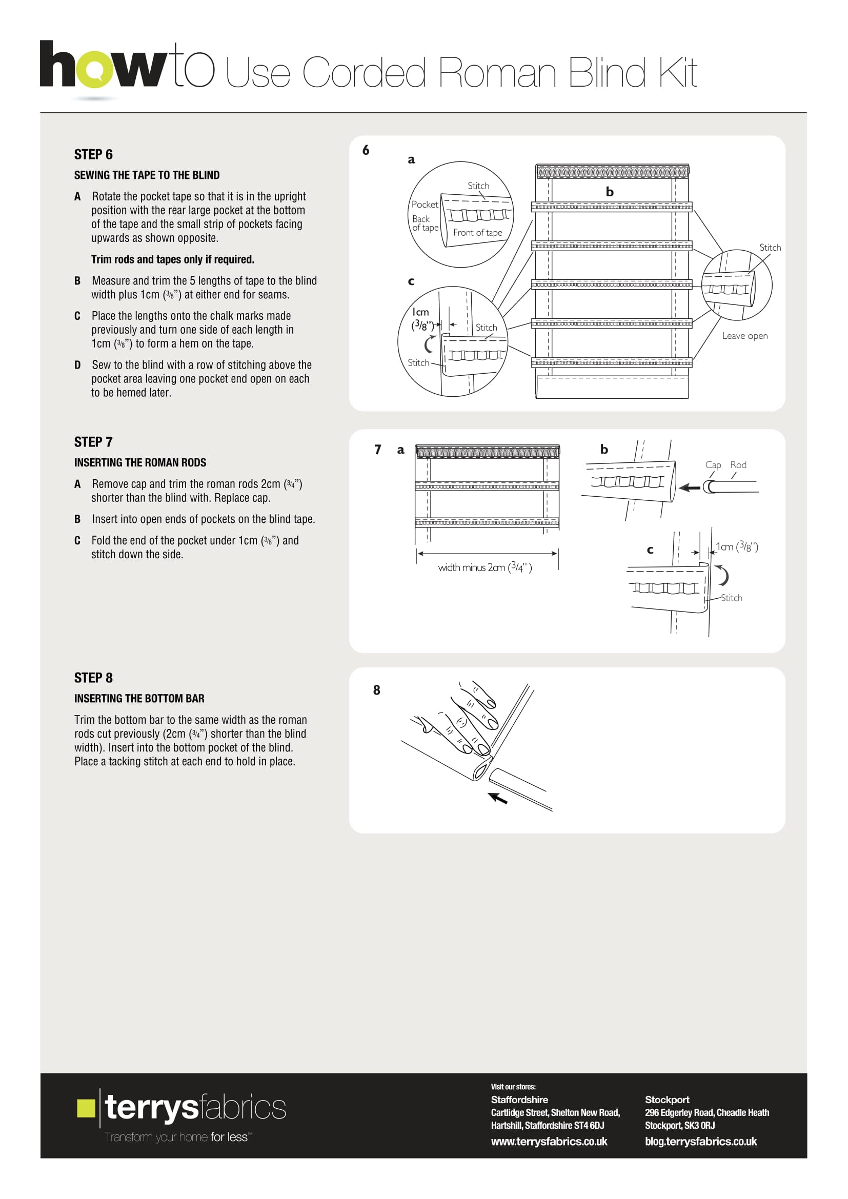Corded Roman Blind Kit Fitting Instructions Three