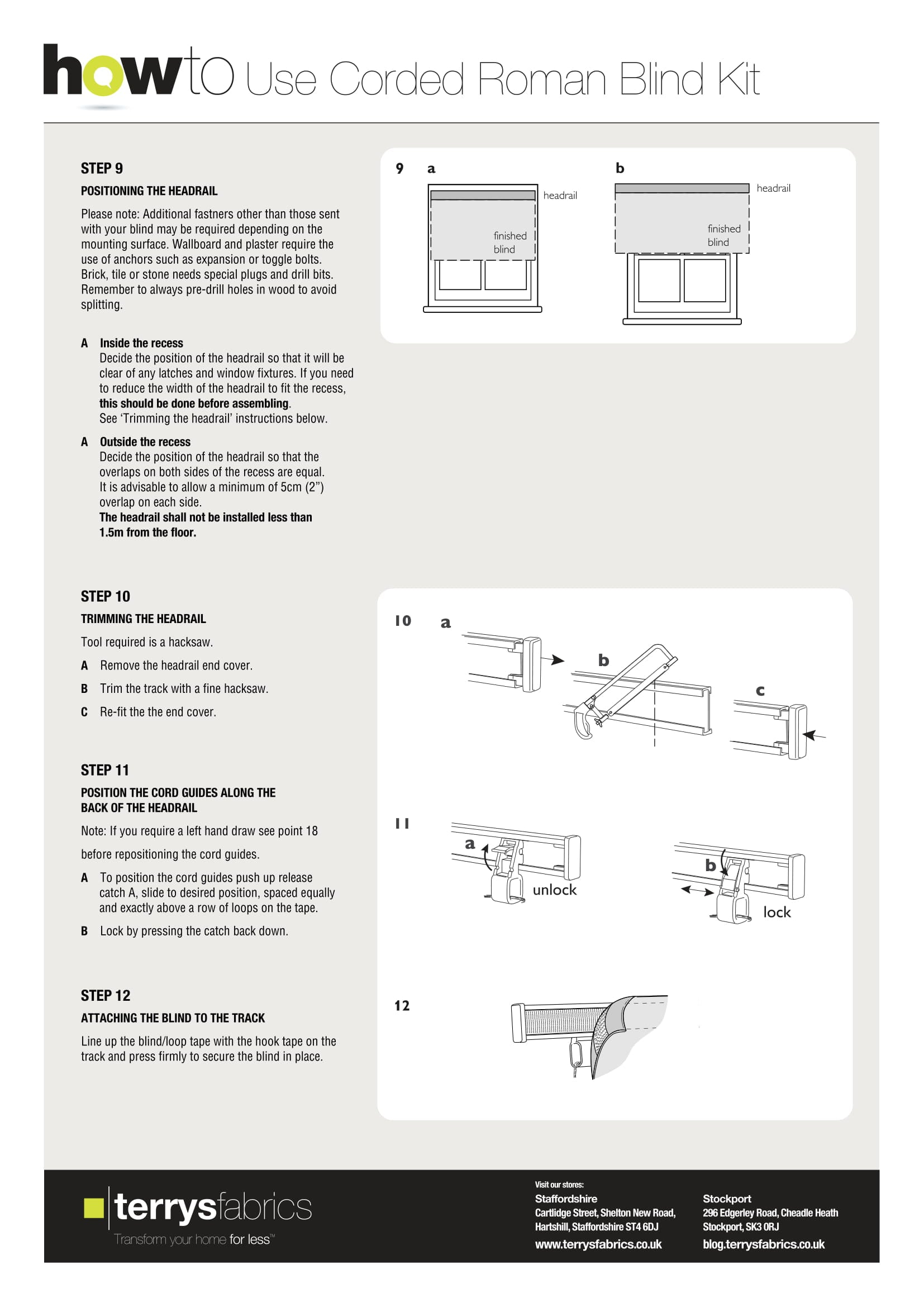Corded Roman Blind Kit Fitting Instructions Four