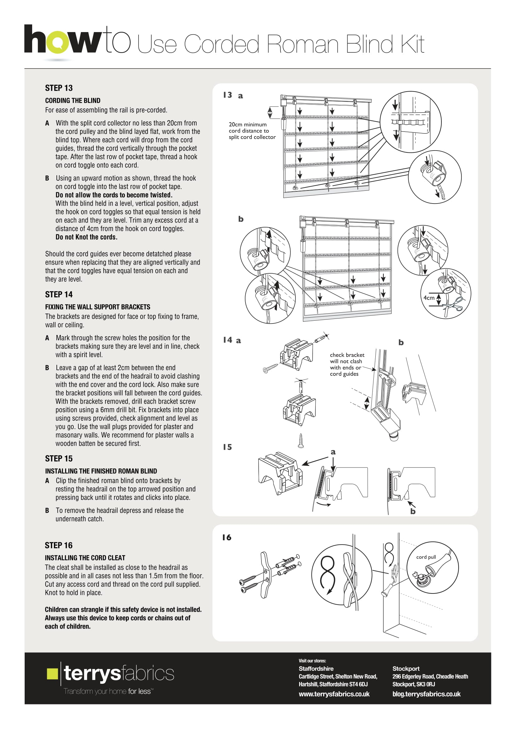 Corded Roman Blind Kit Fitting Instructions Five