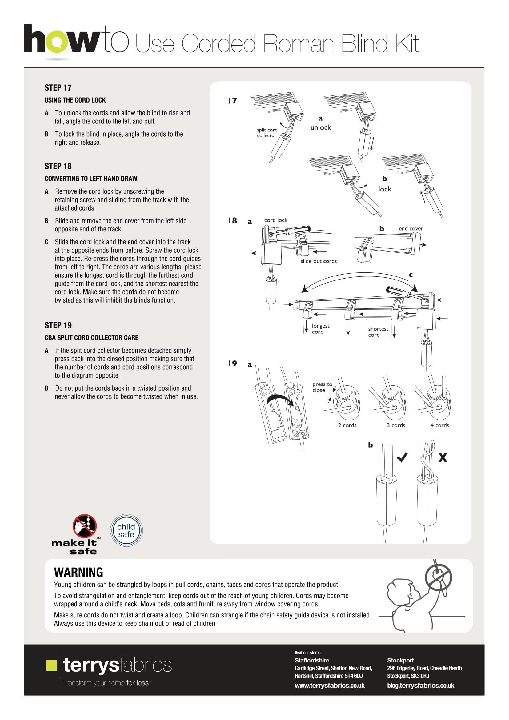 Corded Roman Blind Kit Fitting Instructions Six