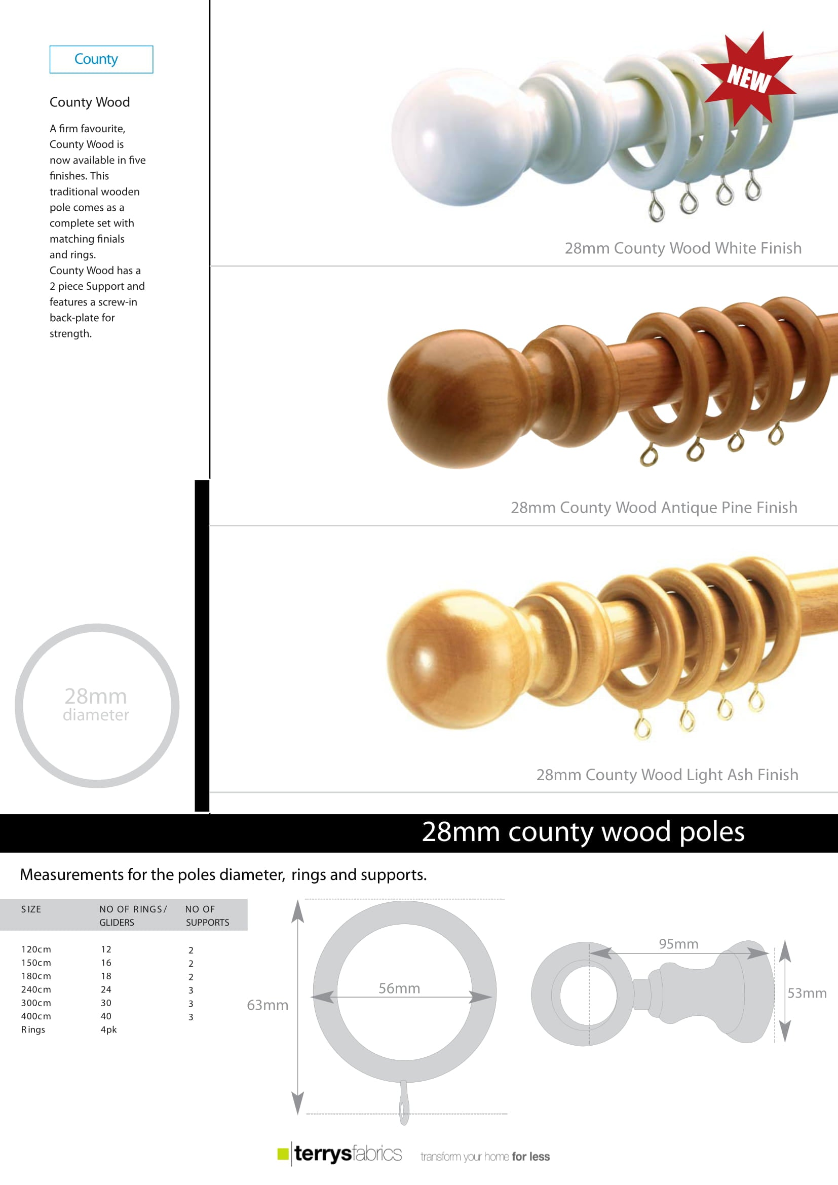 County Metal Poles Product Details And Fitting Instructions One