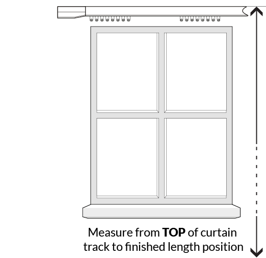 Curtain length guidance illustration