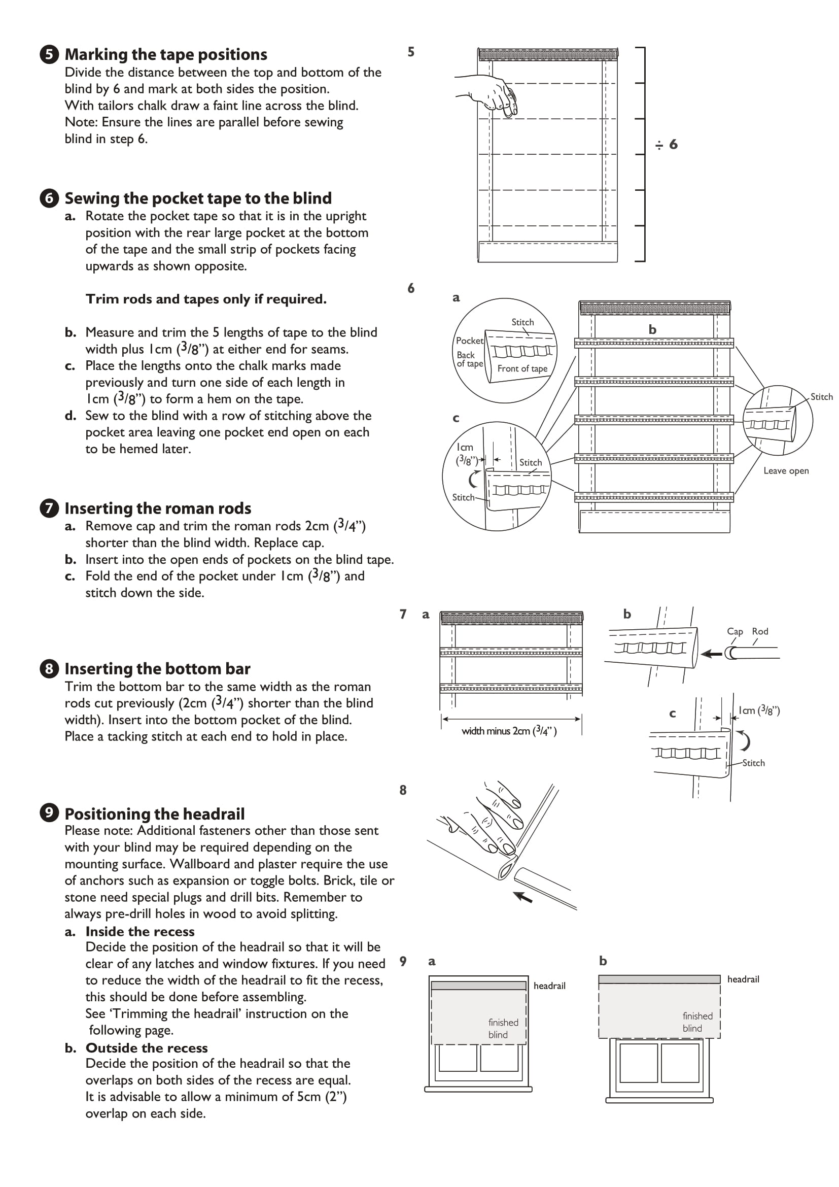 Deluxe Pvc Roman Blind Kit Fitting Instructions Two