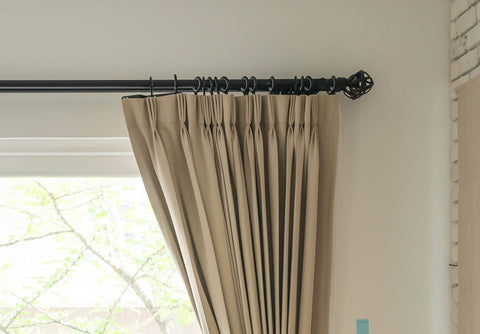 Thin Black Curtain Pole
