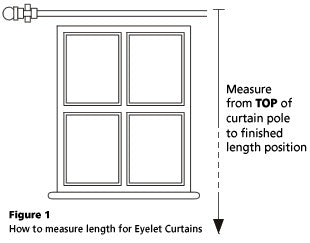 Readymade curtains with eyelet heading