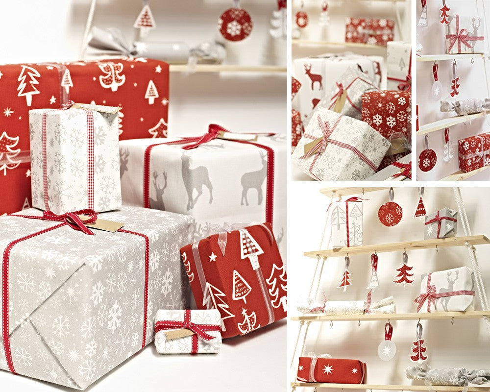 Collage Of Presents Gift Wrapped
