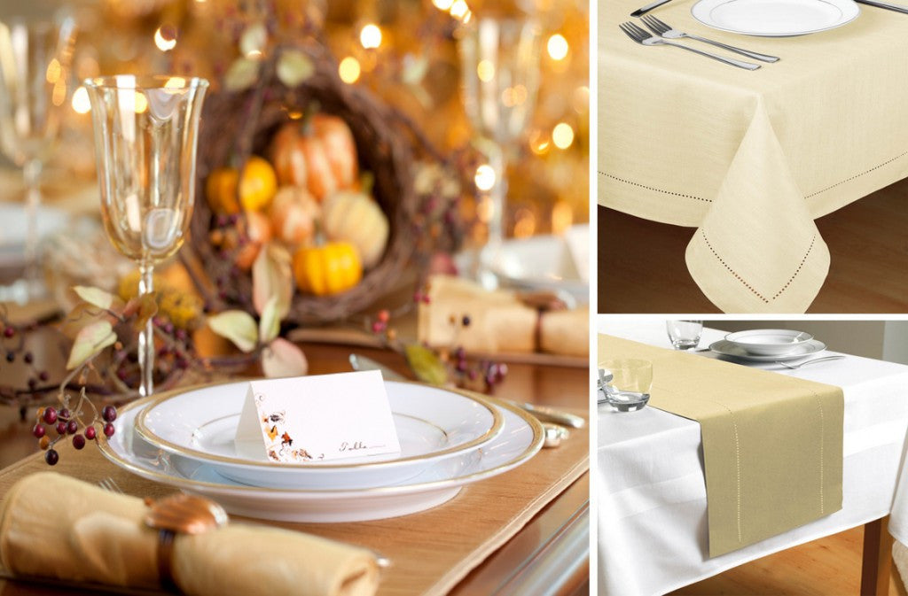 Festive Gold Table Linen