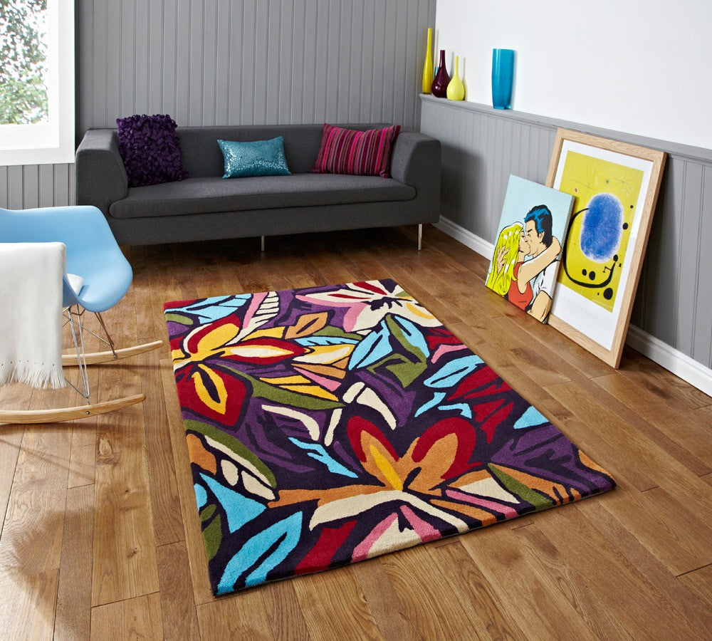 Hong Kong HK 680 Rug Dark and Multi