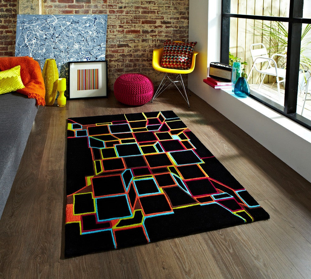 Hong Kong HK 701 Rug Black