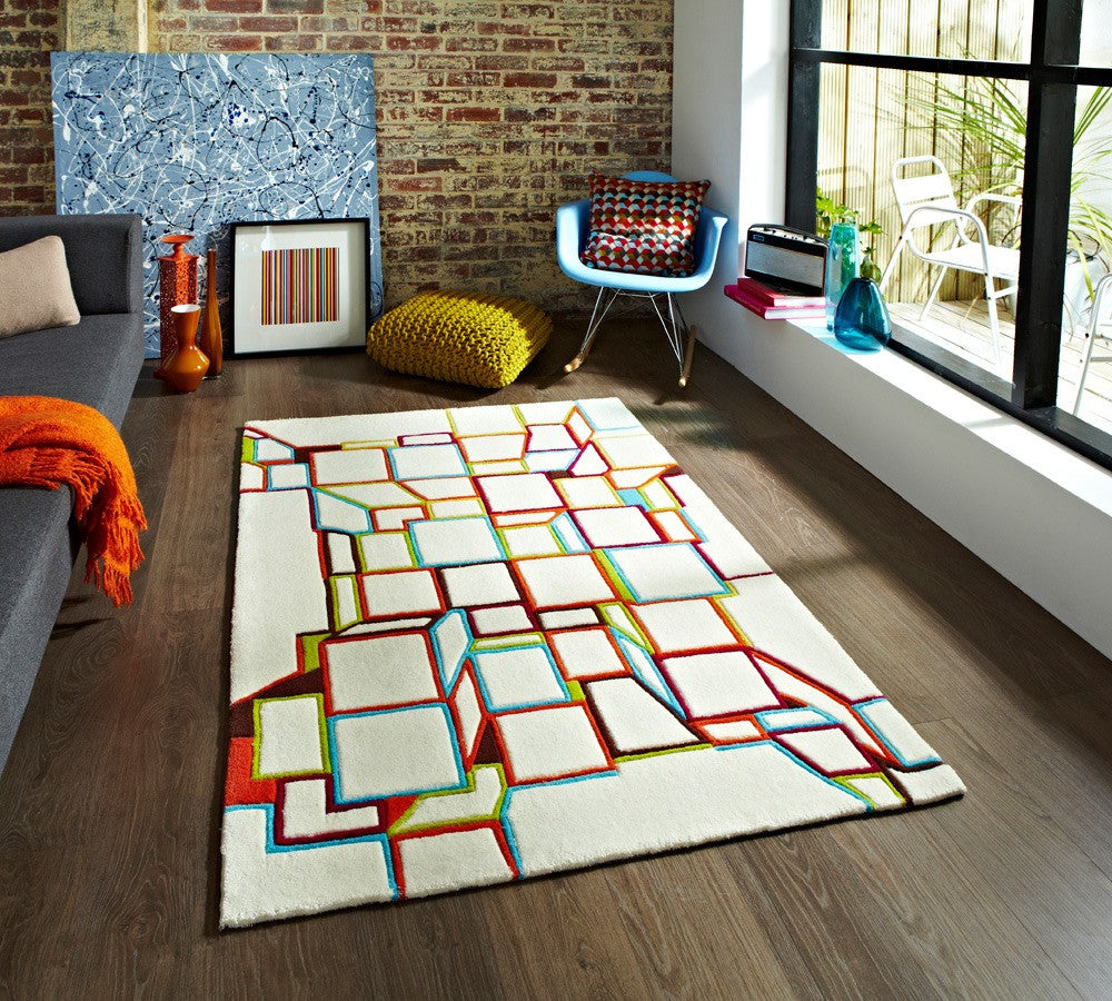 Hong Kong HK 701 Rug White