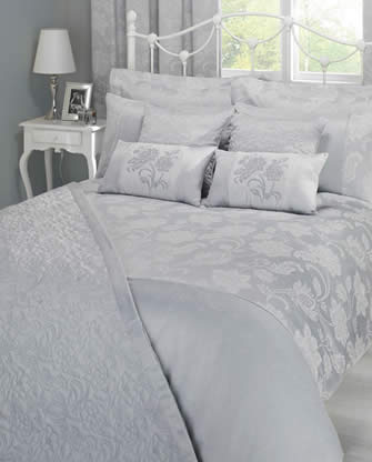 stylish item floral cushion duvet jacquard luxury champagne filled p bed designer colour cover bedding asp boudoir scroll beautiful