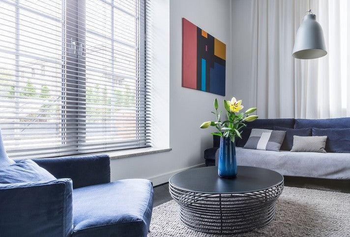 Modern Living Room With Blinds
