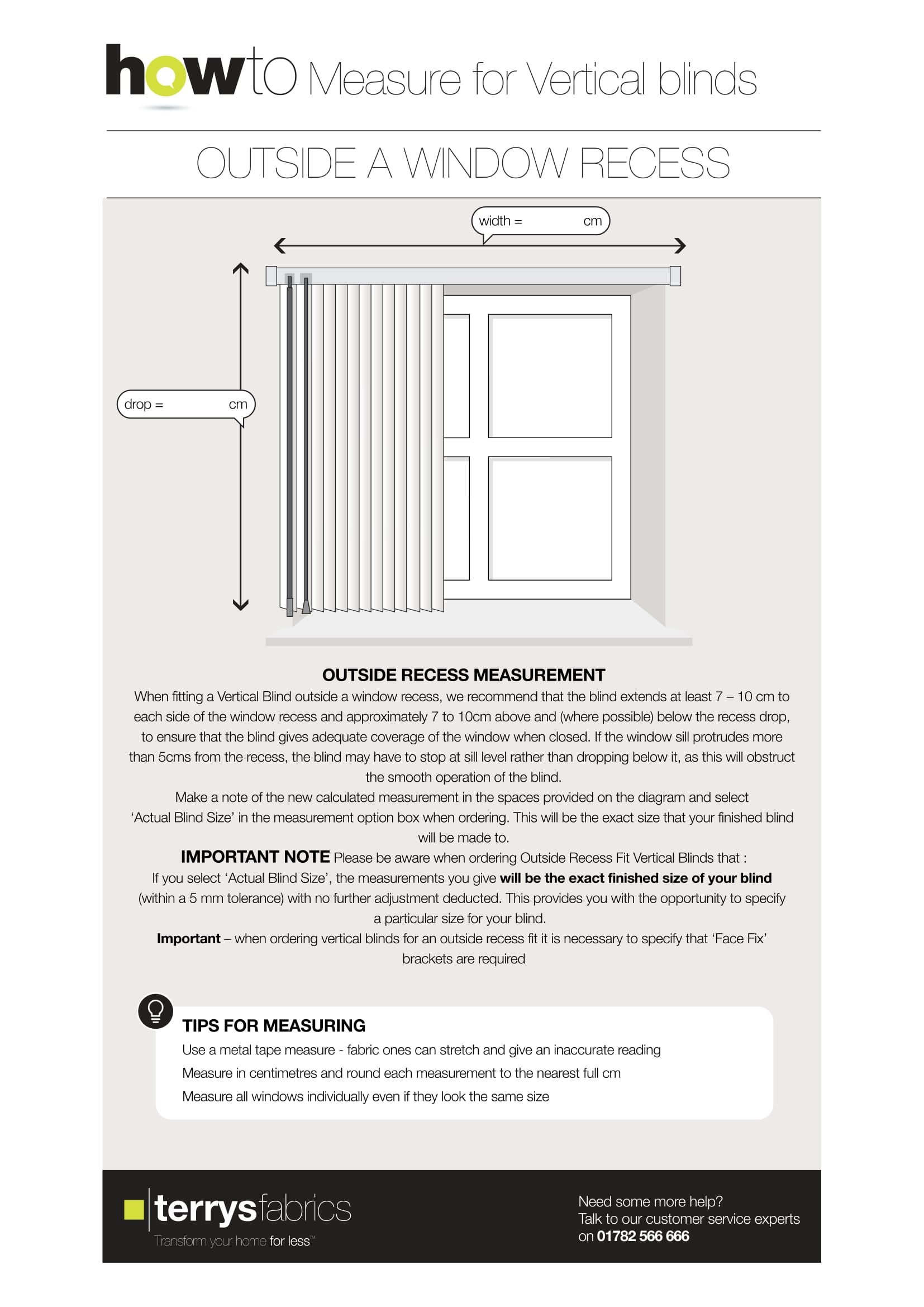 Measuring Vertical Blind Step Two