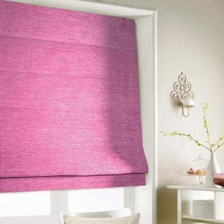 Roman Blinds In Pink