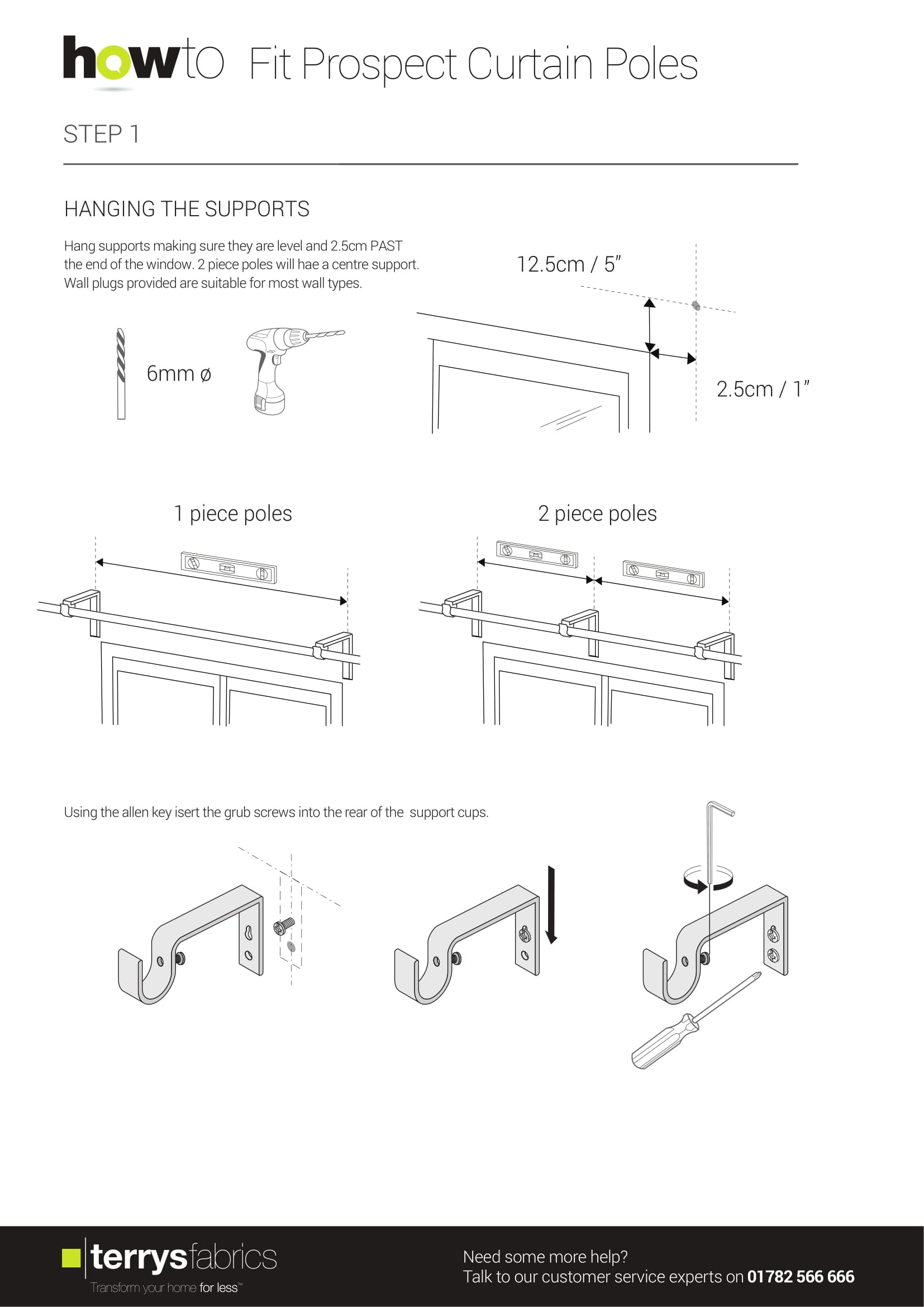 Prospect Curtain Pole Fitting Instructions