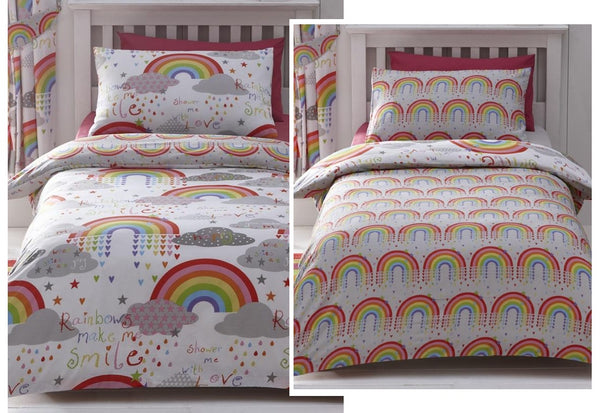Clouds and Rainbows Kids Bedding Set