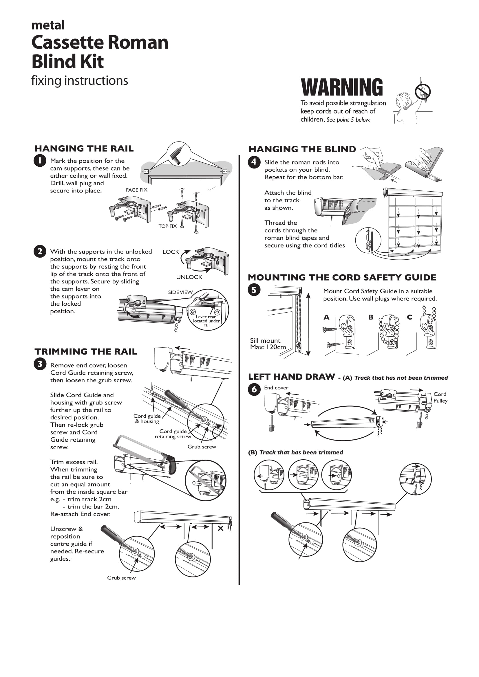 Roman Blind Cassette Fitting Instructions Two
