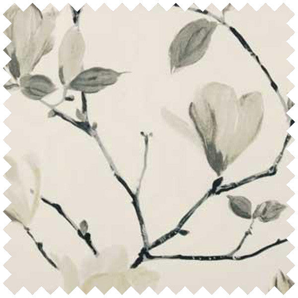Swatch of sayuri floral fabric in beige