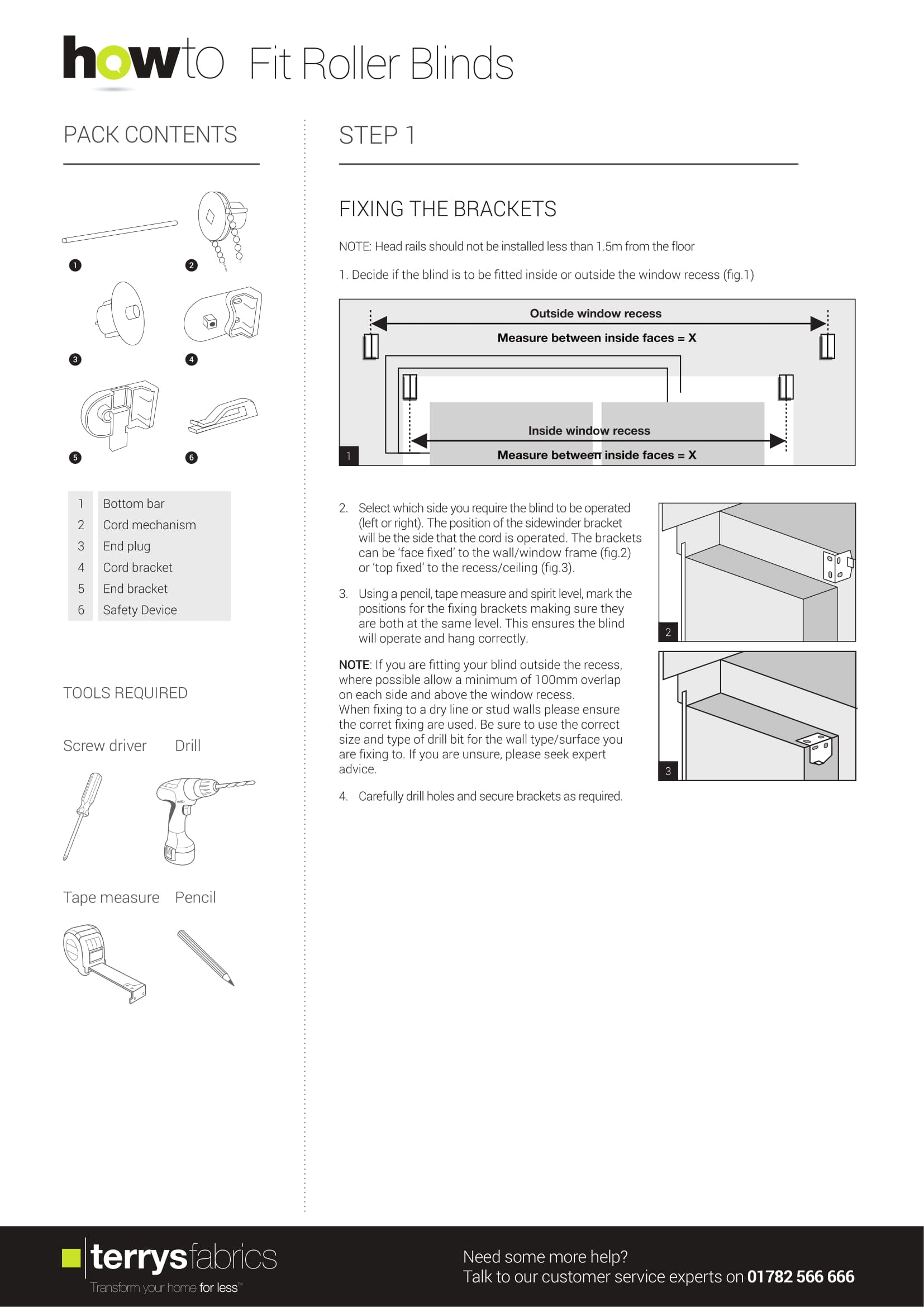 Sunflex Roller Blind Fitting Instructions One