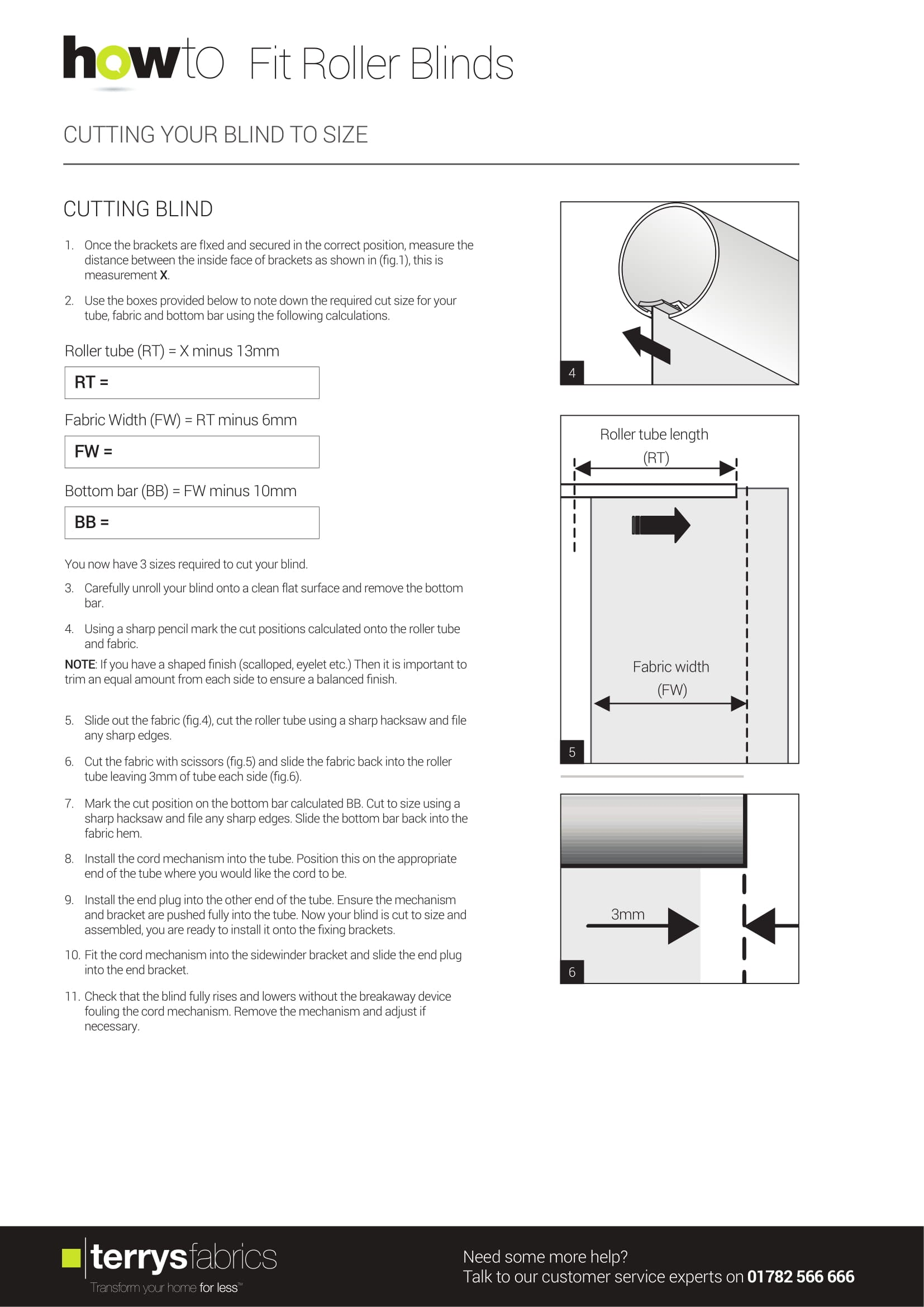 Sunflex Roller Blind Fitting Instructions Two