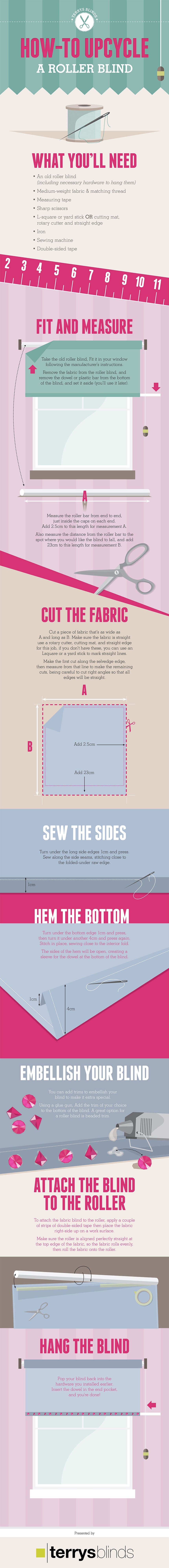 How To Upcycle A Roller Blind Infographic