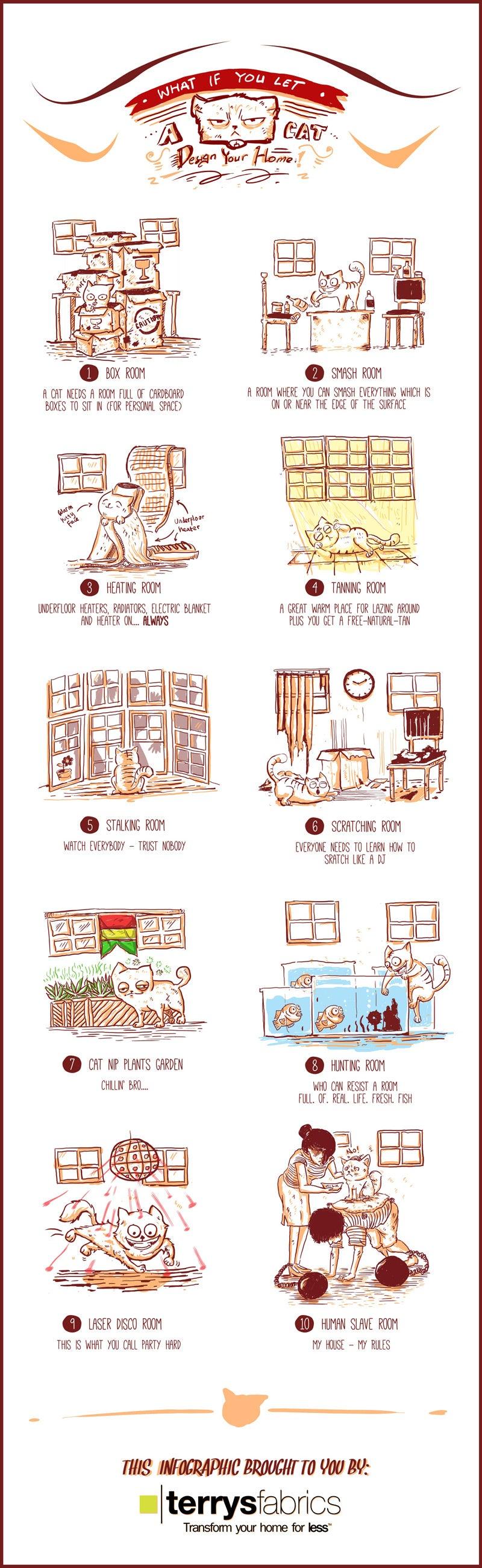 What If You Let A Cat Design Your Home Infographic