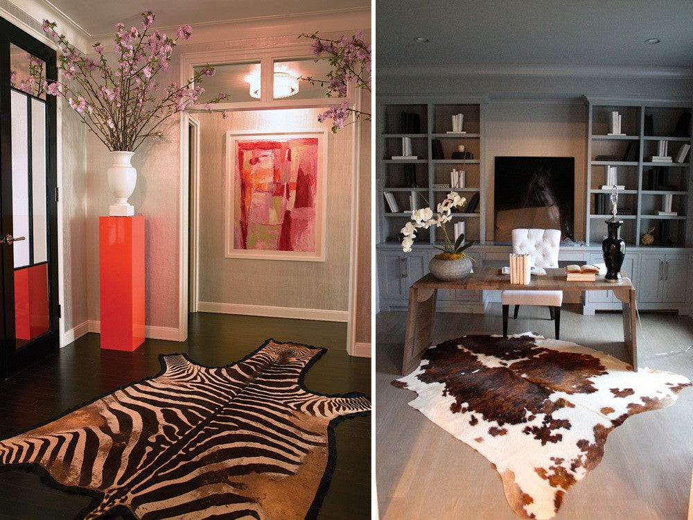 Zebra Print And Animal Print Rug