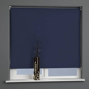 Plain Daylight Roller Blind Midnight Blue