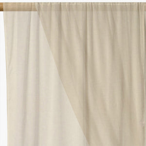 Plain Voile Curtain Fabric Cream