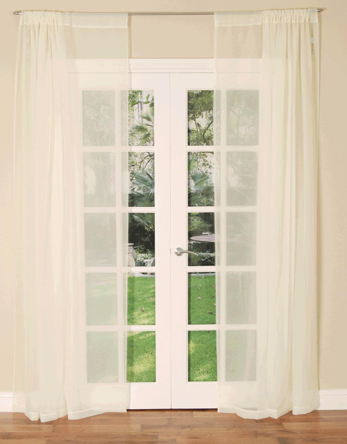 HC Ready Made Curtains Buy 1 get 1 free Slot Top Voile Curtain Panel Picture