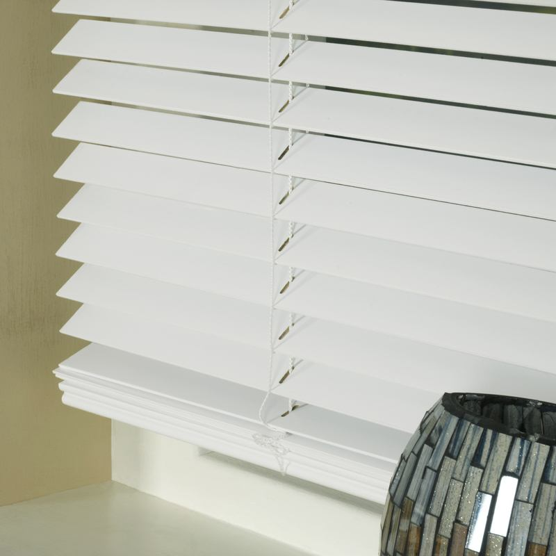 Styline Blinds 25mm Basswood Venetian Blind White Picture