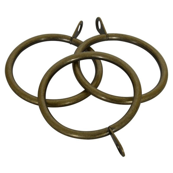 28mm Modo Prospect 6 Pack of Rings Antique Brass