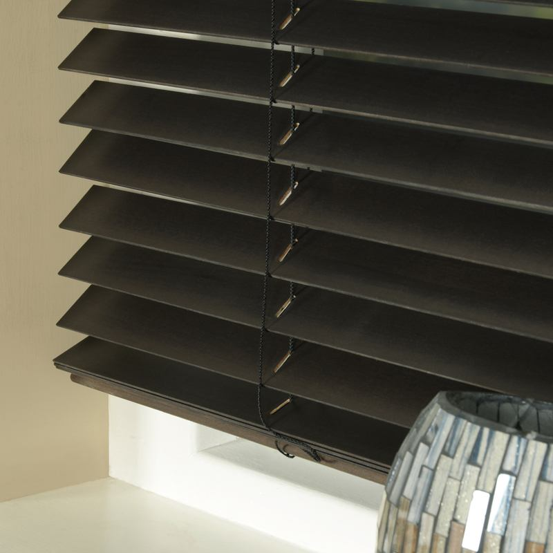 Styline Blinds 35mm Basswood Venetian Blind Chocolate