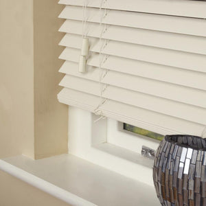 35mm Essence Fauxwood Venetian Blind Fine Grain Mirage Parchment